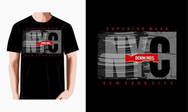 New york city typografie design grafik für t-shirt premium-vektor