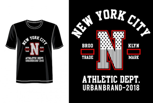 New york city typografie für druck-t-shirt