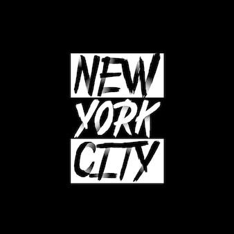 New york city typografie für t-shirt drucken