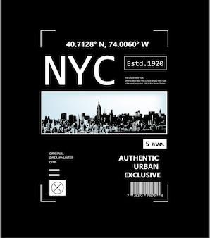 New york city typografie grafik für t-shirt