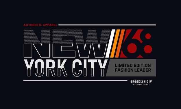 New york city typografie t-shirt