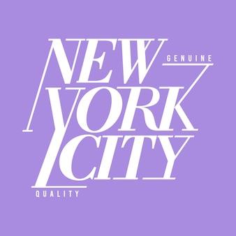 New york city typografie