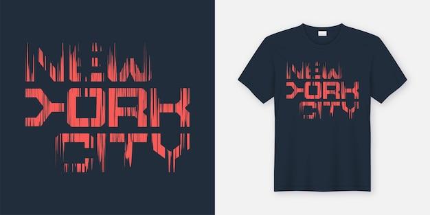 New york cty t-shirt und bekleidungsdesign, typografie