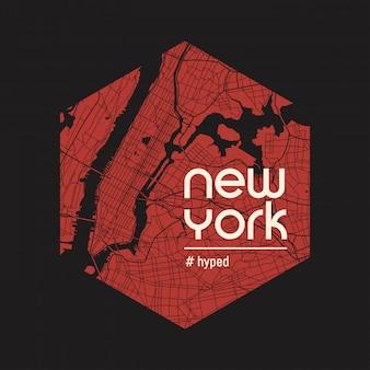 New york gehyptes t-shirt und kleid