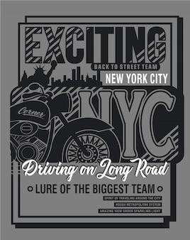 New york ikone typografie, vektorgrafik kunst