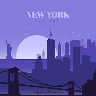 New york skyline konzept