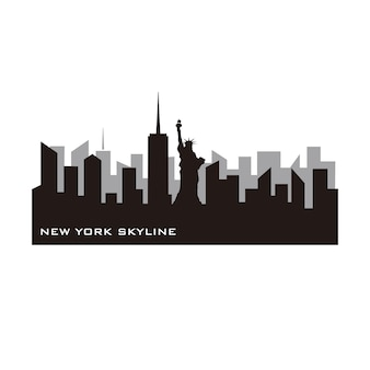 New york skyline vektor