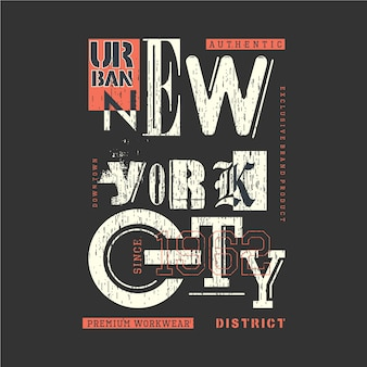 New york stadtbezirk grafik t-shirt design typografie