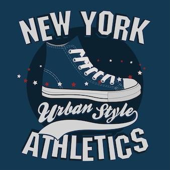 New york t-shirt stempel grafiken, t-shirt druck, sportbekleidung design
