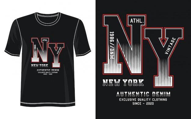 New york typografie illustration