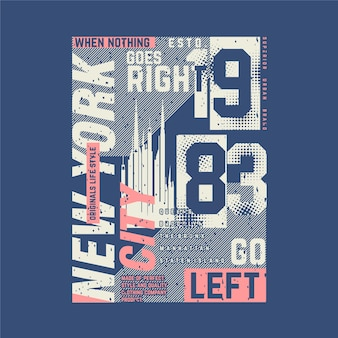 New york typografie mit stadtthema