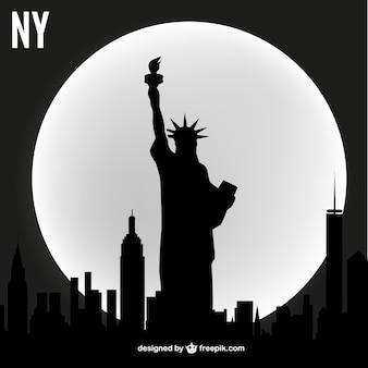 New york vektor-skyline