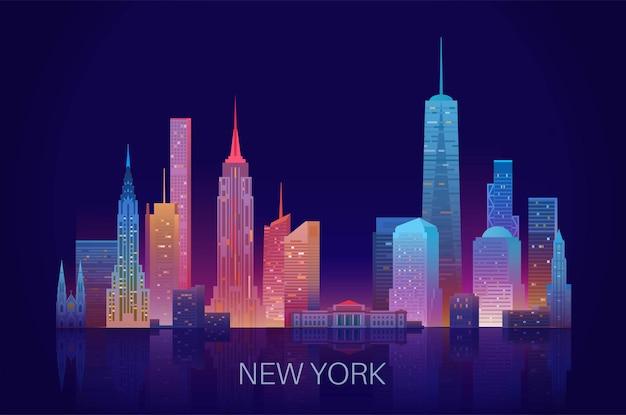 New yorker skyline-vektor-illustration.