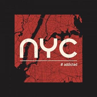 New- yorksüchtiges t-shirt und kleid