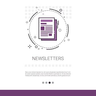 Newsletter anwendung zeitung web banner