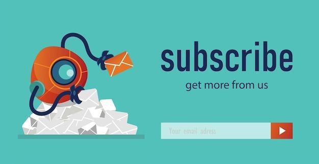 Newsletter design mit roboter