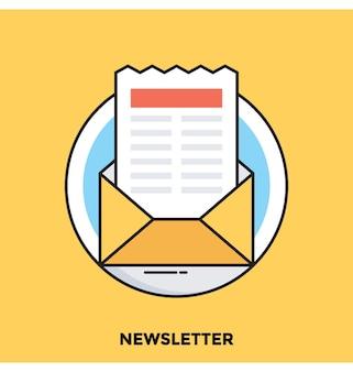 Newsletter flache vektor icon