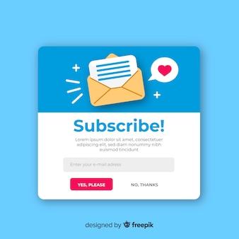 Newsletter formular flachen hintergrund