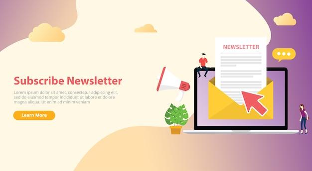 Newsletter-konzept abonnieren