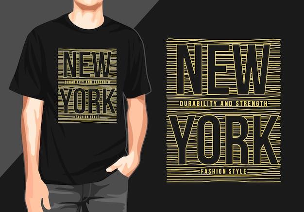 Newyork grafik-t-shirt