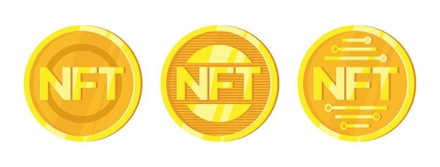 Nft nicht fungible token im cartoon-stil
