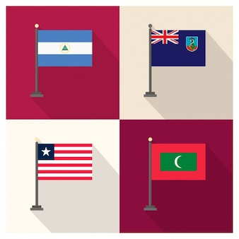 Nicaragua montserrat liberia und malediven