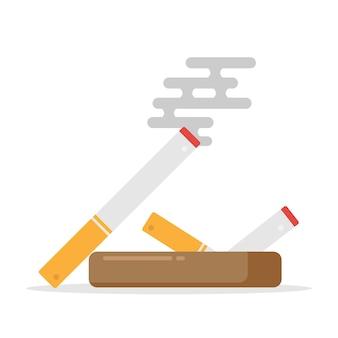 Nicht rauchende zigarette und zeichen, zigarettenikone