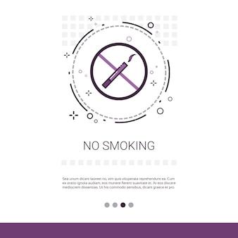 Nichtraucher-öffentliche zeichen-fahne