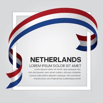 Niederlande bandflagge, vektor-illustration auf weißem hintergrund