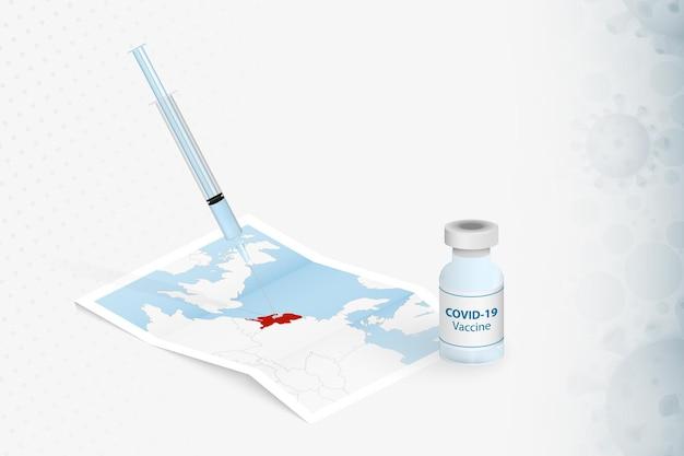 Niederlande impfung, injektion mit covid-19-impfstoff in der karte der niederlande.