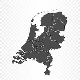 Niederlande karte isolierte wiedergabe