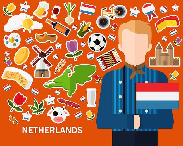 Niederlande konzept hintergrund