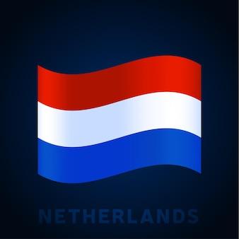 Niederlande wave-vektor-flag. waving nationalen offiziellen farben und anteil der flagge. vektor-illustration.