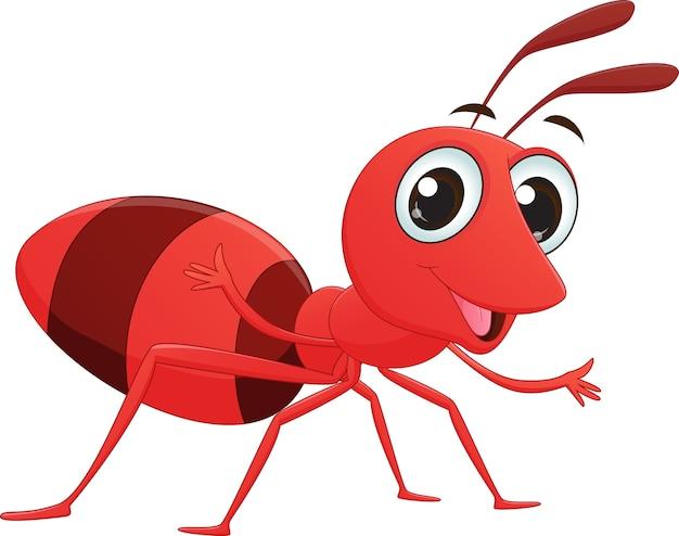 Niedliche ameisenkarikatur