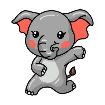 Niedliche baby-elefant-cartoon-sitze