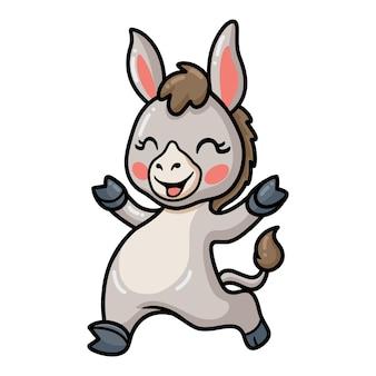 Niedliche baby-esel-cartoon-aufstellung