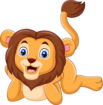 Niedliche baby-löwe-karikatur