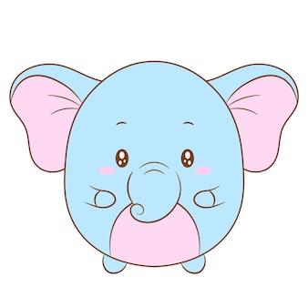 Niedliche babyelefantenzeichnung