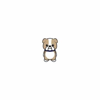 Niedliche bulldoggenwelpenkarikatur