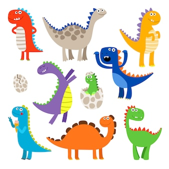 Niedliche cartoon-dinosaurier