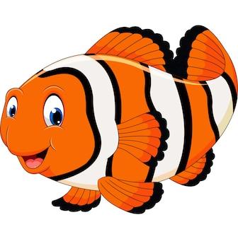 Niedliche Clownfischkarikatur