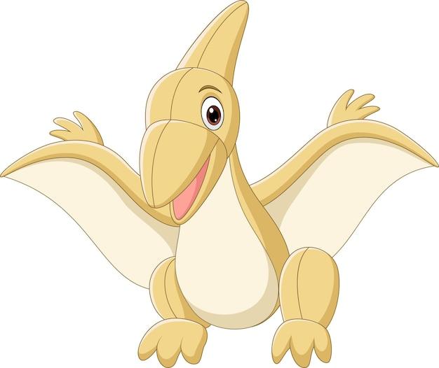 Niedliche dinosaurier-pterodaktylus-puppe