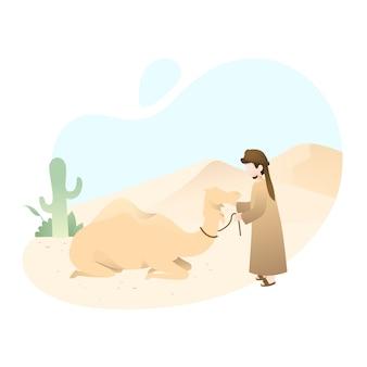 Niedliche eid al adha illustration