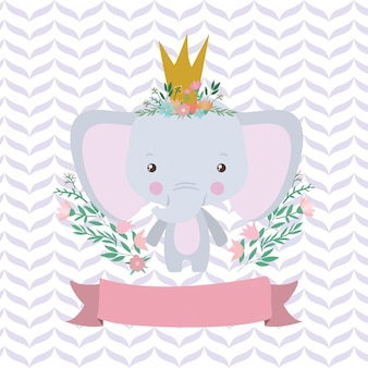 Niedliche elefantenkarikatur und -band