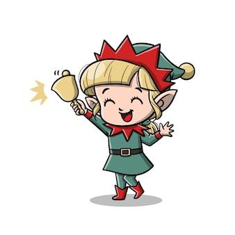 Niedliche elfen-cartoon-figur