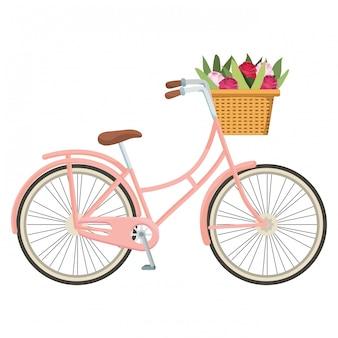 Niedliche fahrradkarikatur