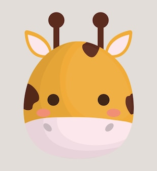 Niedliche giraffe tierikone