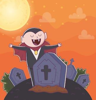 Niedliche halloween-illustration