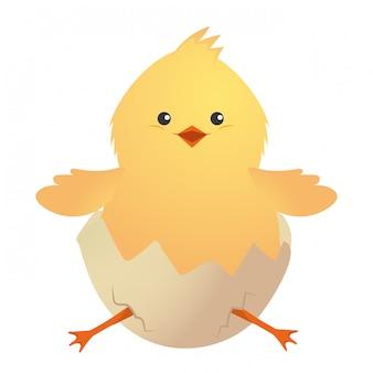 Niedliche hühnerkarikatur