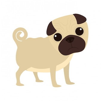 Niedliche hund cartoon ikone